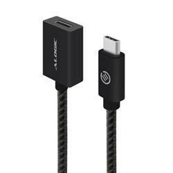 ALOGIC 1M USB 3.1 (GEN 2) USB-C TO USB-C EXTENSION CABLE - MALE TO FEMALE - BLACK - PRIME SERIES - MOQ:3