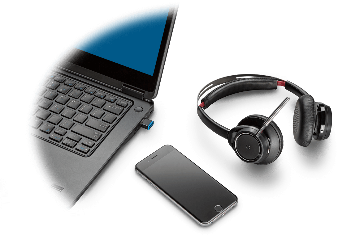 PLANTRONICS VOYAGER FOCUS UC B825 OTH ANC STEREO BT USB-A- NO STAND