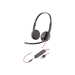 PLANTRONICS BLACKWIRE C3225 UC STEREO USB-A & 3.5MM CORDED HEADSET PROMO EXP 30SEP20