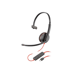 PLANTRONICS BLACKWIRE C3210 UC MONO USB-C CORDED HEADSET - PROMO ENDS 26 JUN 21