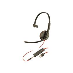 PLANTRONICS BLACKWIRE C3215 UC MONO USB-C & 3.5MM CORDED HEADSET - PROMO ENDS 26 JUN 21