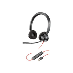 PLANTRONICS BLACKWIRE 3320- UC- STEREO USB-A CORDED HEADSET