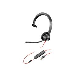 PLANTRONICS BLACKWIRE 3315- UC- MONO W/ 3.5MM- USB-A CORDED HEADSET
