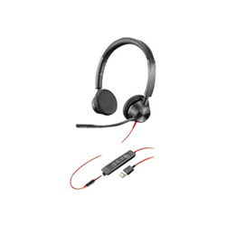 PLANTRONICS BLACKWIRE 3325-M- UC- STEREO USB-A CORDED HEADSET