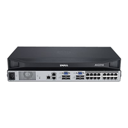 DELL DAV2216-G01 16-PORT ANALOG- UPGRADEABLE TO DIGITAL KVM SWITCH: 2 LOCAL USERS- 1 POWER