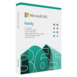 M365 FAMILY ENGLISH APAC DM SUBSCR 1YR MEDIALESS P8