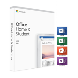MICROSOFT OFFICE 2019 HOME & STUDENT MAC/WIN- NO DVD RETAIL BOX- P6 PACKAGING