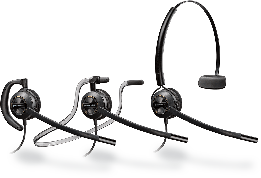 PLANTRONICS ENCOREPRO HW540 CONVERTIBLE MONO NC QD CORDED HEADSET TOP