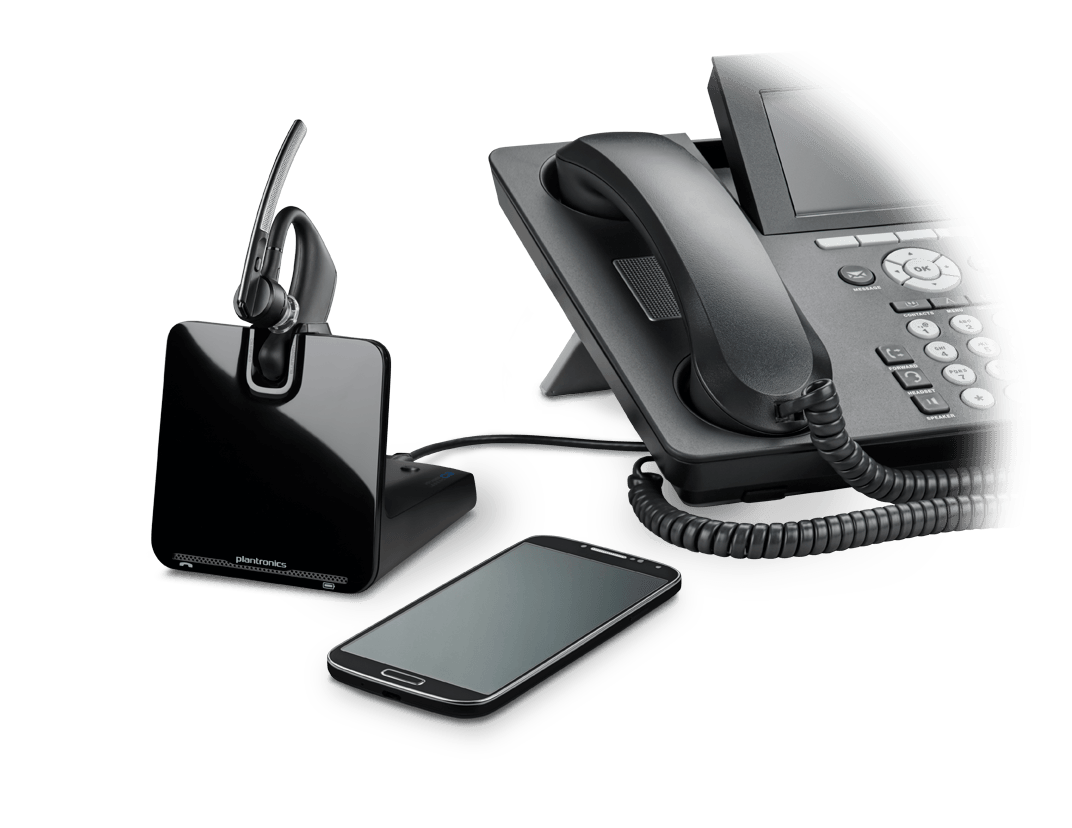 PLANTRONICS VOYAGER LEGEND UC CS B335 OVER-THE-EAR HEADSET SYSTEM- DESKPHONE/BLUETOOTH