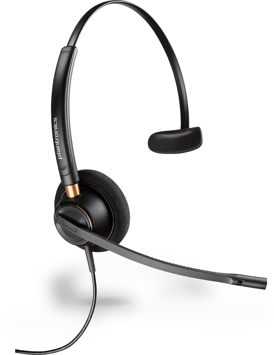 PLANTRONICS ENCOREPRO HW510 OVER THE HEAD MONO NC QD CORDED HEADSET TOP