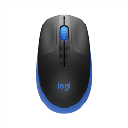 LOGITECH M190 WIRELESS MOUSE PLUG AND PLAY- 2.4GHZ NANO RECEIVER  - BLUE - 1YR WTY