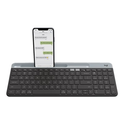 LOGITECH K580 SLIM MULTI DEVICE WIRELESS KEYBOARD WITH UNIFYING RECEIVER-BT-GRAPHITE-1YR