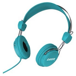 HEADPHONES STEREO KIDS FRIENDLY COLOURFUL BLUE - MOW 10