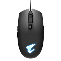 AORUS- M2- GAMING MOUSE- 6200DPI- PIXART 3327 OPTICAL SENSOR- 4 SIDE BUTTONS- USB CORDED- RGB FUSION 2.0- 2 YEARS WARRANTY