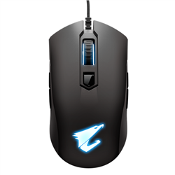 AORUS- M4- GAMING MOUSE- 6400DPI- PIXART 3988 OPTICAL SENSOR- 4 SIDE BUTTONS- USB CORDED- RGB FUSION 2.0- 2 YEARS WARRANTY