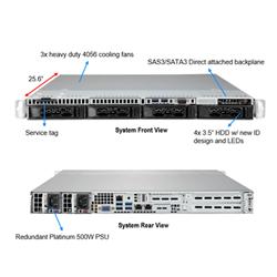 SUPERMICRO 1014S 7232P 1RU SERVER SYSTEM. AMD 1U EPYC 7002. WIO 1014S- 1RU- 7232P 8C (1/1)