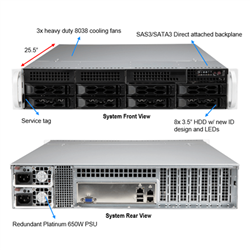 SUPERMICRO 2014S 7203P 2RU SERVER SYSTEM. AMD 2U EPYC 7002. WIO 2014S- 7302P 16C (1/1)