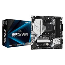 AMD B550; 4 DDR4; PCIE 4.0 X16- PCIE 3.0 X16- PCIE 3.0 X1- M.2 WIFI KEY E; 6 SATA3- HYPER M.2 (PCIE)- M.2 (PCIE); 10 USB 3.2; GRAPHICS:HDMI- DP- D-SUB