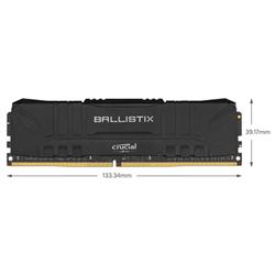 BALLISTIX 16GB (8GBX2 KIT) DDR4 MEMORY- 3200MHZ- CL16- LIFE WTY- (BLACK)