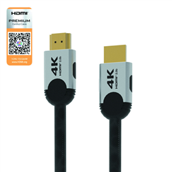 HDMI V2.0 CABLE PREMIUM CERTIFIED 4K GOLD IN 2M