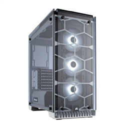 CORSAIR 570X RGB ATX MID TOWER CASE TEMPERED GLASS (INCLUDED 3X SP120RGB FAN) WHITE