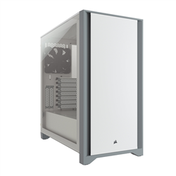4000D TEMPERED GLASS MID-TOWER CASE- WHITE