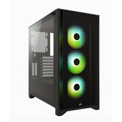 ICUE 4000X RGB TEMPERED GLASS MID-TOWER CASE- BLACK