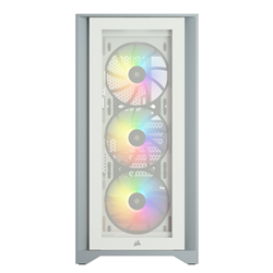 ICUE 4000X RGB TEMPERED GLASS MID-TOWER CASE- WHITE