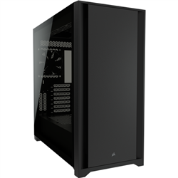 5000D TEMPERED GLASS MID-TOWER- BLACK