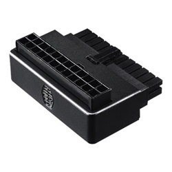 COOLER MASTER ATX 24 PIN 90 DEGREE ADAPTER WITH CAPACITORS- PLUG AND PLAY