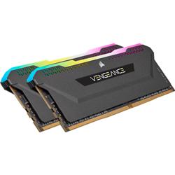DDR4- 3200MHZ 32GB 2X16GB DIMM- UNBUFFERED- 16-20-20-38- XMP 2.0- VENGEANCE RGB PRO SL BLACK HEATSPREADER- RGB LED- 1.35V- FOR AMD RYZEN