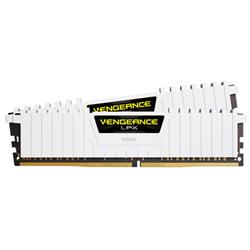 CORSAIR VENGEANCE LPX- DDR4- 3200MHZ 32GB 2X16GB DIMM- UNBUFFERED- DUAL RANK- 16-20-20-38- XMP 2.0- WHITE HEATSPREADER- BLACK PCB- 1.35V