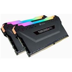 VENGEANCE RGB PRO DDR4- 2666MHZ 32GB 2 X 288 DIMM- UNBUFFERED- 16-18-18-35- BLACK HEAT SPREADER-RGB LED- 1.35V- XMP 2.0