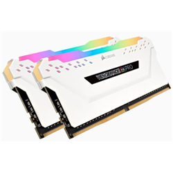 CORSAIR VENGEANCE RGB PRO  DDR4- 3000MHZ 32GB 2 X 288 DIMM- UNBUFFERED- 15-17-17-35 WHITE HEAT SPREADER-RGB LED- 1.35V- XMP 2.0