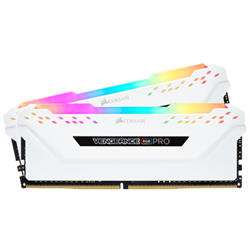 VENGEANCE RGB PRO DDR4- 3200MHZ 32GB 2 X 288 DIMM- UNBUFFERED- 16-18-18-36 WHITE HEAT SPREADER- RGB LED- 1.35V- XMP 2.0