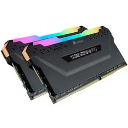 CORSAIR VENGEANCE RGB PRO DDR4- 3000MHZ 32GB 2X16GB DIMM- UNBUFFERED- 16-20-20-38- XMP 2.0-BLACK HEATSPREADER- BLACK PCB- 1.35V