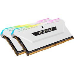 CORSAIR VENGEANCE RGB PRO DDR4- 3200MHZ 32GB 2X16GB DIMM- UNBUFFERED- 16-20-20-38- XMP 2.0- WHITE HEATSPREADER- RGB LED- BLACK PCB- 1.35V