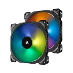 CORSAIR ML140 PRO RGB- 140MM PREMIUM MAGNETIC LEVITATION RGB LED PWM FAN- TWIN FAN PACK- WITH LIGHTING NODE PRO