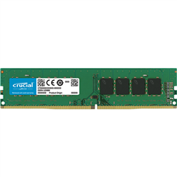CRUCIAL 16GB DDR4 DESKTOP MEMORY- PC4-21300- 2666MHZ- DRX8- LIFE WTY