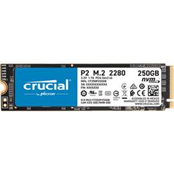 CRUCIAL P2 250GB- M.2 INTERNAL NVME PCIE SSD- 2100R/1150W MB/S- 5YR WTY