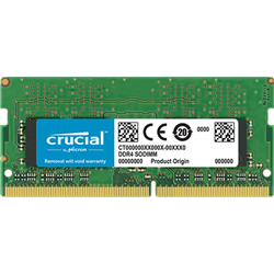 CRUCIAL 8GB DDR4 NOTEBOOK MEMORY- PC4-19200- 2400MHZ- SRX8- LIFE WTY