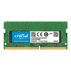 CRUCIAL 8GB DDR4 NOTEBOOK MEMORY- PC4-21300- 2666MHZ- SRX8- LIFE WTY