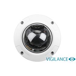 VIGILANCE FULL HD OUTDOOR VANDAL-PROOF POE DOME CAMERA - 2 MEGAPIXEL PROGRESSIVE CMOS SENSOR - REAL-TIME H.264 MOTION JPEG COMPRESSION - FULL HD RESOLUTION UP TO 1920 X 1080 AT 30FPS - IR LED UPTO 30M