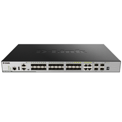 28-PORT GIGABIT XSTACK LAYER 3+ MANAGED STACKABLE SWITCH WITH 24 SFP (4 COMBO 1000BASE-T) AND 4 10 GBE SFP+ PORTS