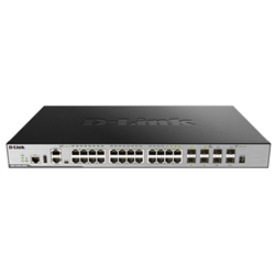 28-PORT GIGABIT XSTACK LAYER 3+ MANAGED STACKABLE SWITCH WITH 24 1000BASE-T (4 COMBO SFP) AND 4 10 GBE SFP+ PORTS