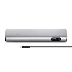 BELKIN EXPRESS 4K THUNDERBOLT 3 DOCK- USB-C(2)- GBE- USB-A 3.0(3)- DP- MAC ONLY-0.8M CABLE