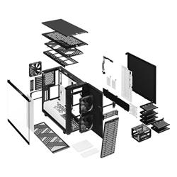 FRACTAL DESIGN DEFINE 7 BLACK AND WHITE TG