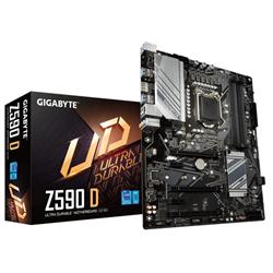 GIGABYTE Z590 D- 1200- 4XDDR4  - 6XSATA- USB3.1- ATX- 3YR