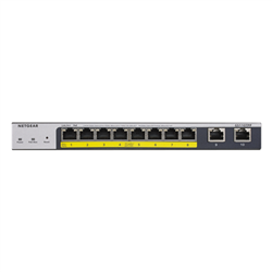 8-PORT POE+ GIGABIT SMART MANAGED PRO SWITCH WITH CLOUD MANAGEMENT & 2 X SFP PORTS (120W POE BUDGET EXTENDABLE TO 190W)