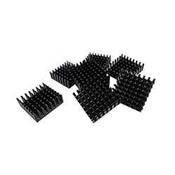 QNAP HEATSINK FOR M.2 SSD MOD ULE- 14X14MM- BLACK- SELF ADHESIVE - 8 PCS